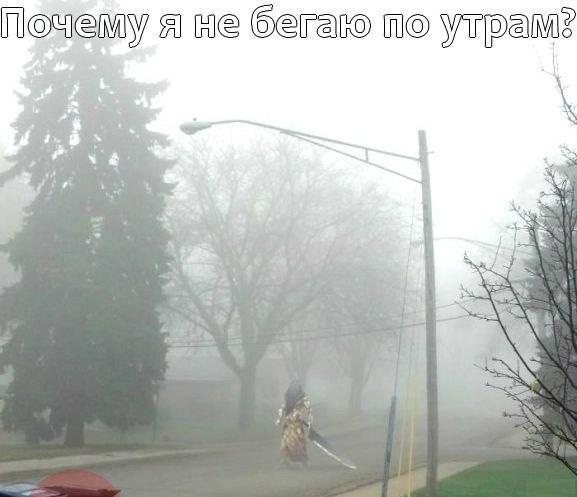 Вот почему я не бегаю по утрам)))