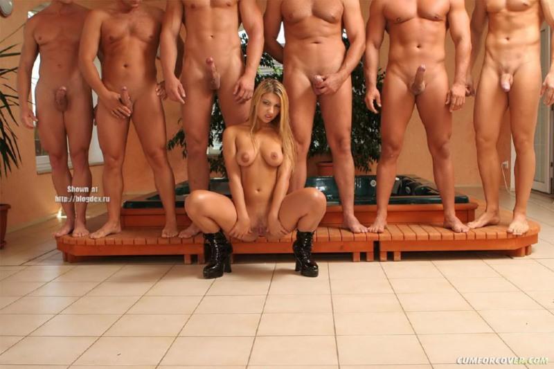 Много мужчин для голой жены