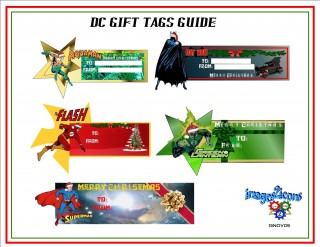 DC Comics gift tag guide