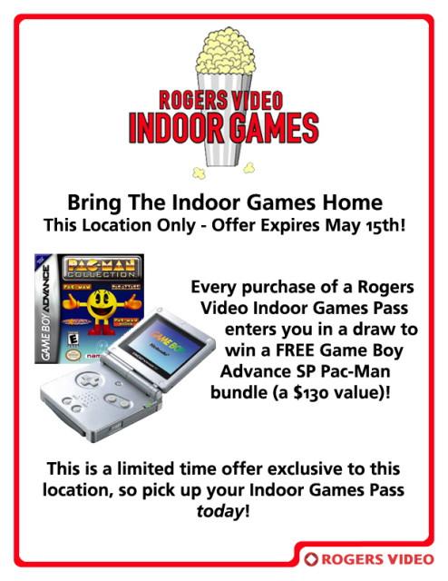Indoor Games Contest Flyer