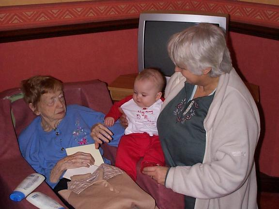 [Small Clanger, his Grandma and his Great Grandma]