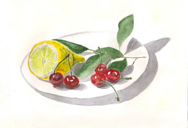 лимон и ягоды