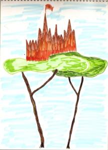 Дерево и замок