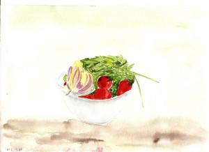 Миска с овощами