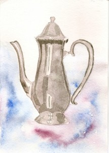 чайник с фоном