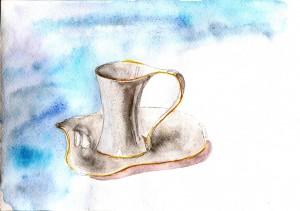 Чашка с фоном