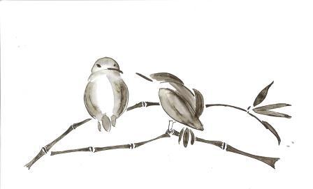 Птицы ручка