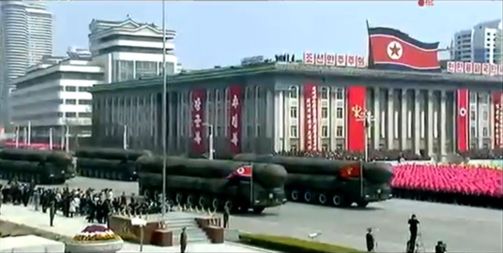 Военный парад в Пхеньяне. 15.04.2017 21