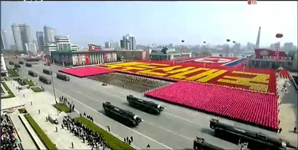 Военный парад в Пхеньяне. 15.04.2017 19
