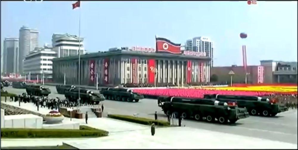 Военный парад в Пхеньяне. 15.04.2017 17
