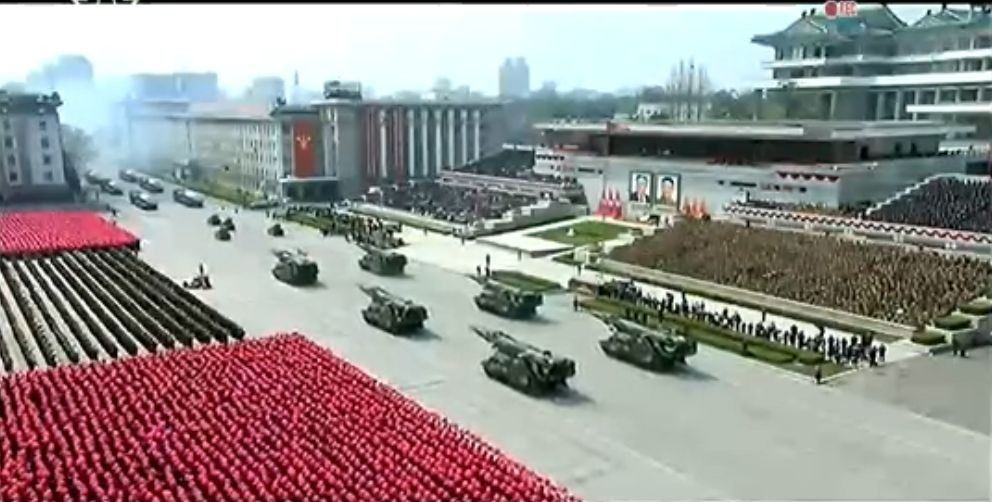Военный парад в Пхеньяне. 15.04.2017 15