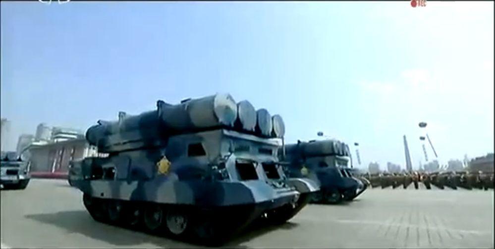 Военный парад в Пхеньяне. 15.04.2017 13