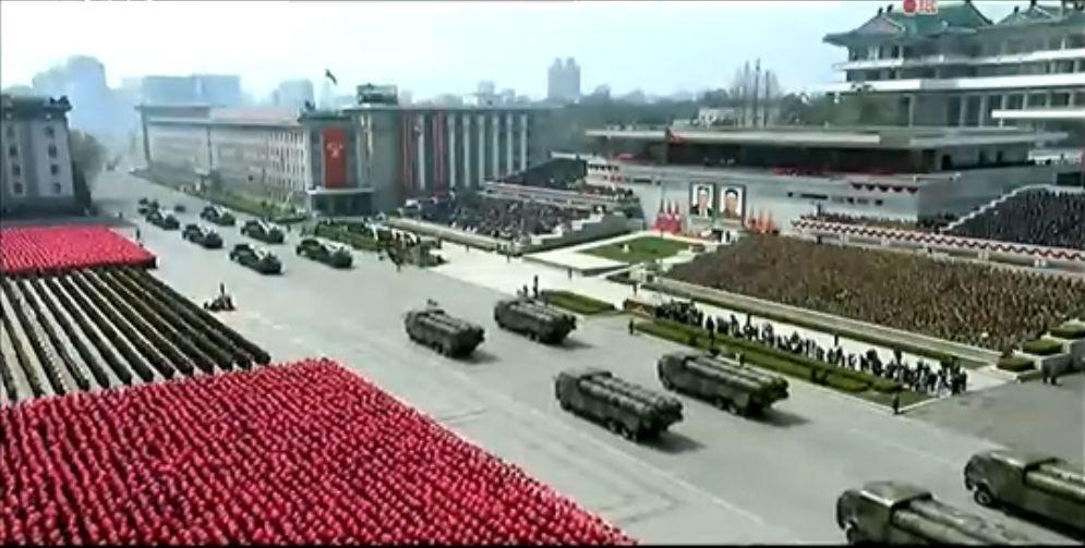 Военный парад в Пхеньяне. 15.04.2017 12