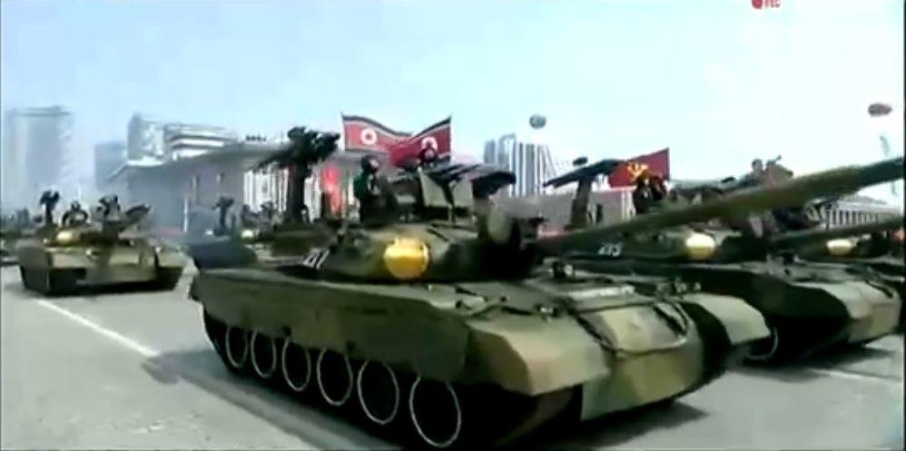 Военный парад в Пхеньяне. 15.04.2017 2