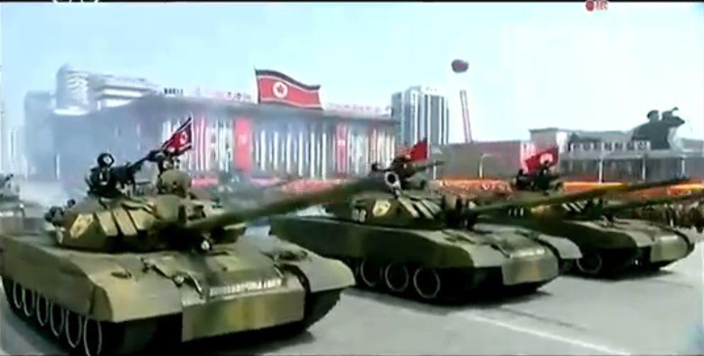 Военный парад в Пхеньяне. 15.04.2017 1