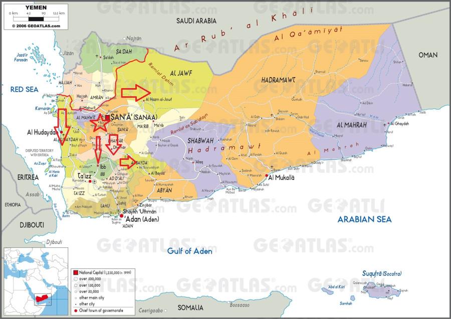 Йемен карта