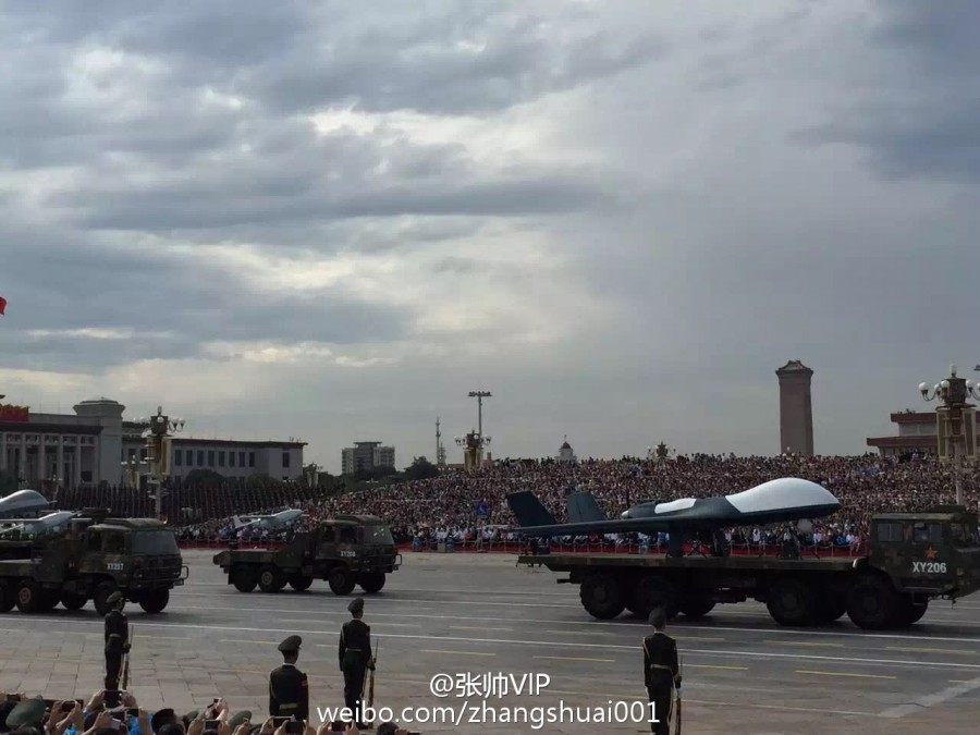 PLAAF UAVs at parade - BZK-005