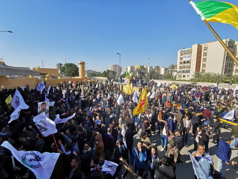Осада протестующими американского посольства в Багдаде 31.12.2019
