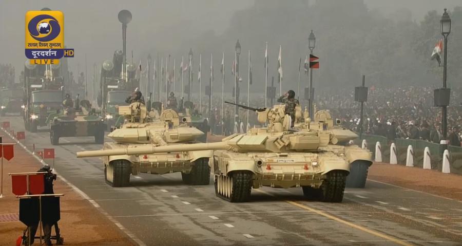 Военный парад в Нью-Дели в честь Дня Республики. 26.01.2016