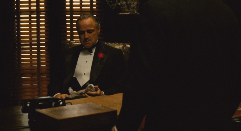 an analysis of the opening of the scene in the godfather The lake tahoe sequence that opens the godfather part 2 is a the 9 conflict threads in the godfather part 2 opening and how every element of each scene.