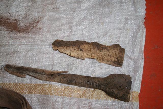 В Алтайской скале найден саркофаг времен средневековья.