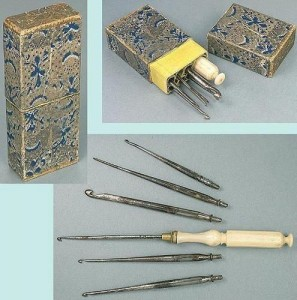 Antique English Cased Crochet Hook Set; Circa 1860.jpg