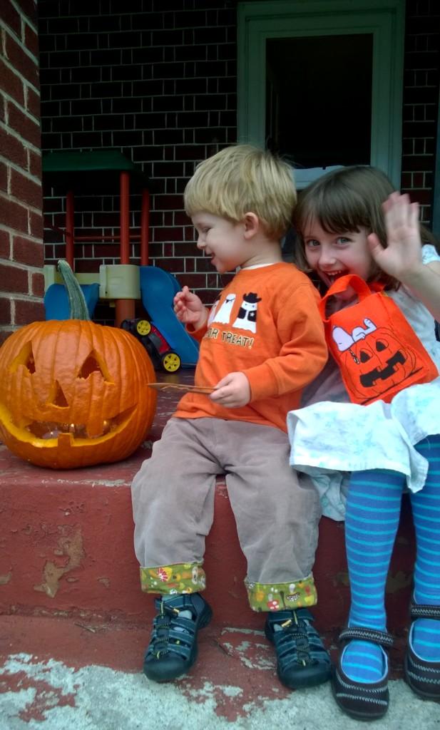 Children with Jack O' Lantern