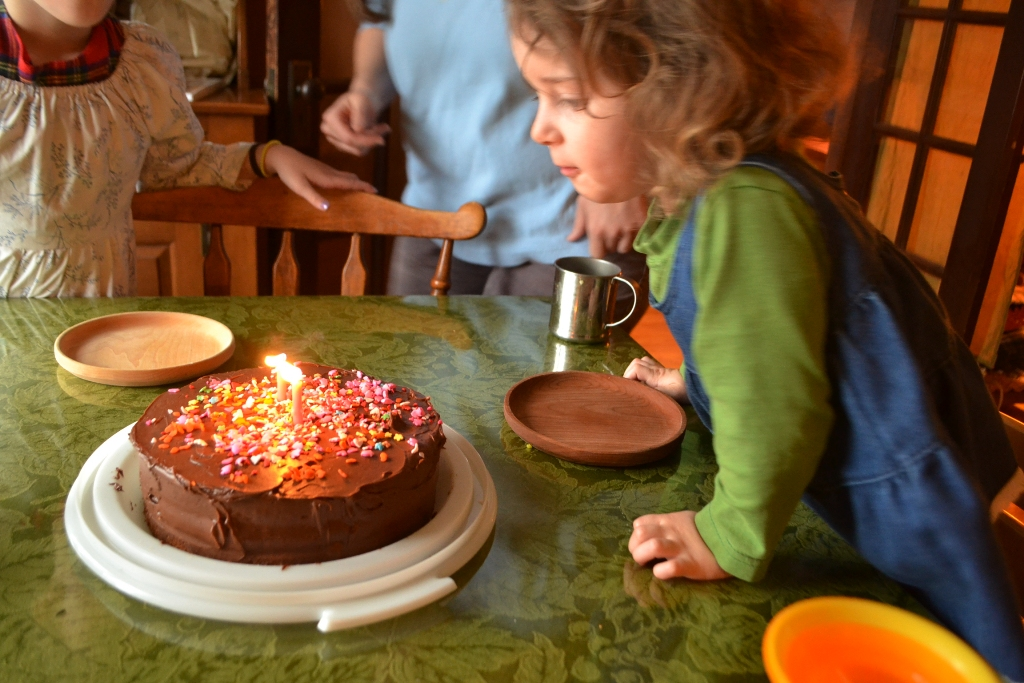 Two Candles on Her Cake