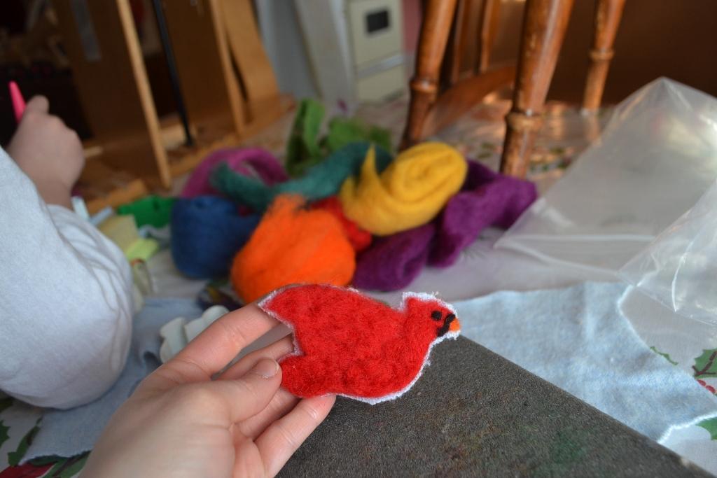 Felted Cardinal