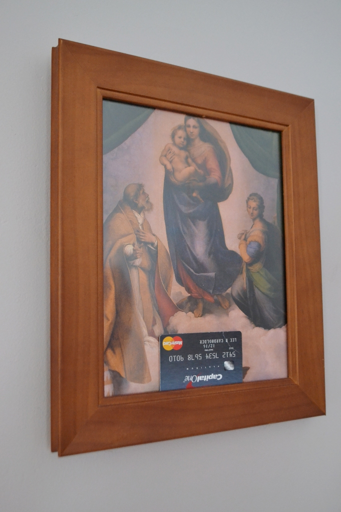 Sistine Madonna with Credit Card