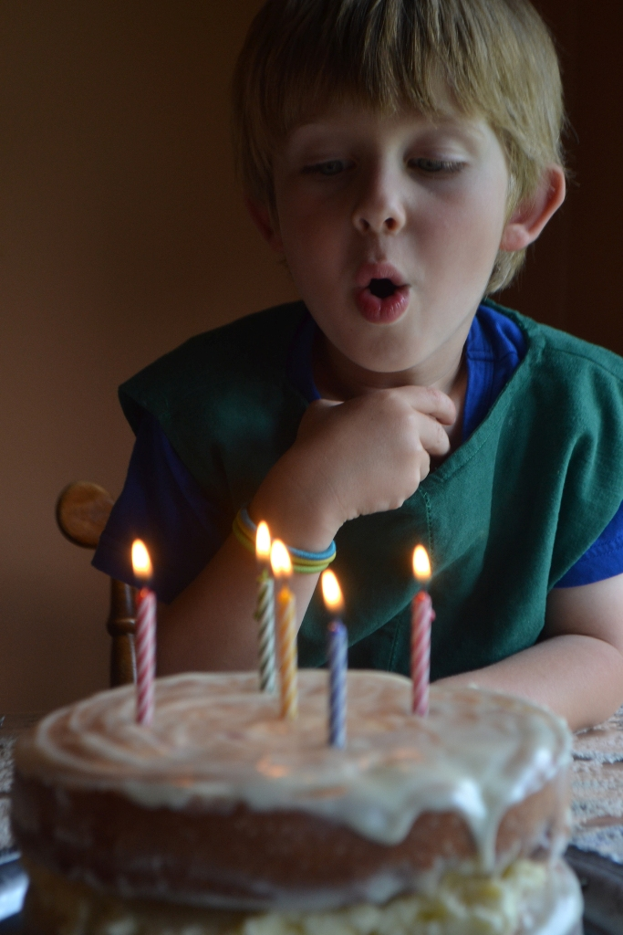 Five Candles on His Cake