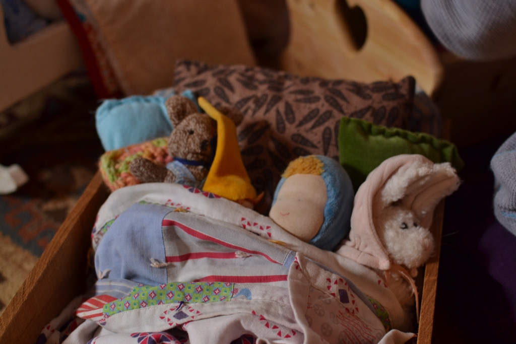 Dolls in Bed