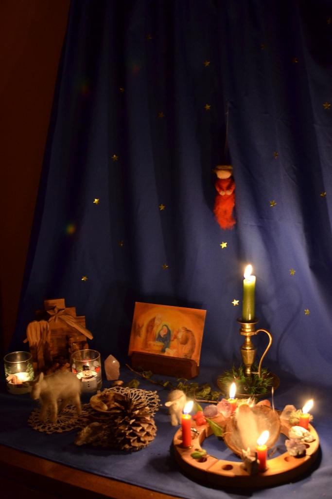 Christmas Nature Table
