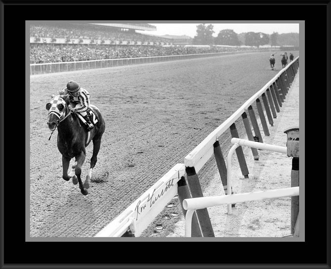 Secretariat Belmont Photo Framed Adjusted