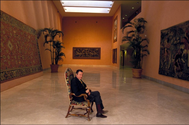 Ханс Генрих фон Тиссен-Борнемиса в мадридском музее. 1995
