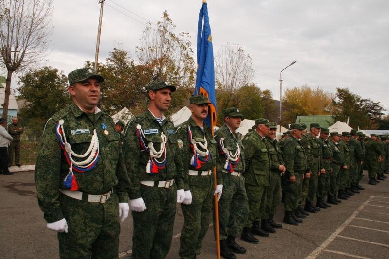 Последнее построение батальона ССПМ от Северной Осетии — Алании 4 ноября 2009 года
