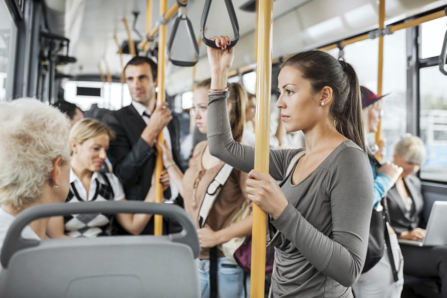 Кого только не встретишь в общественном транспорте...