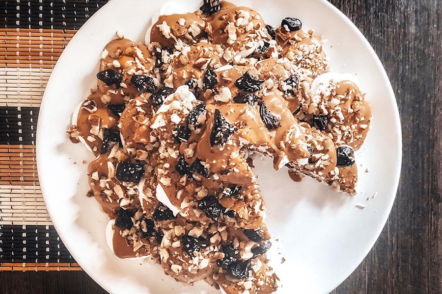 Торт «Графские развалины» с черносливом
