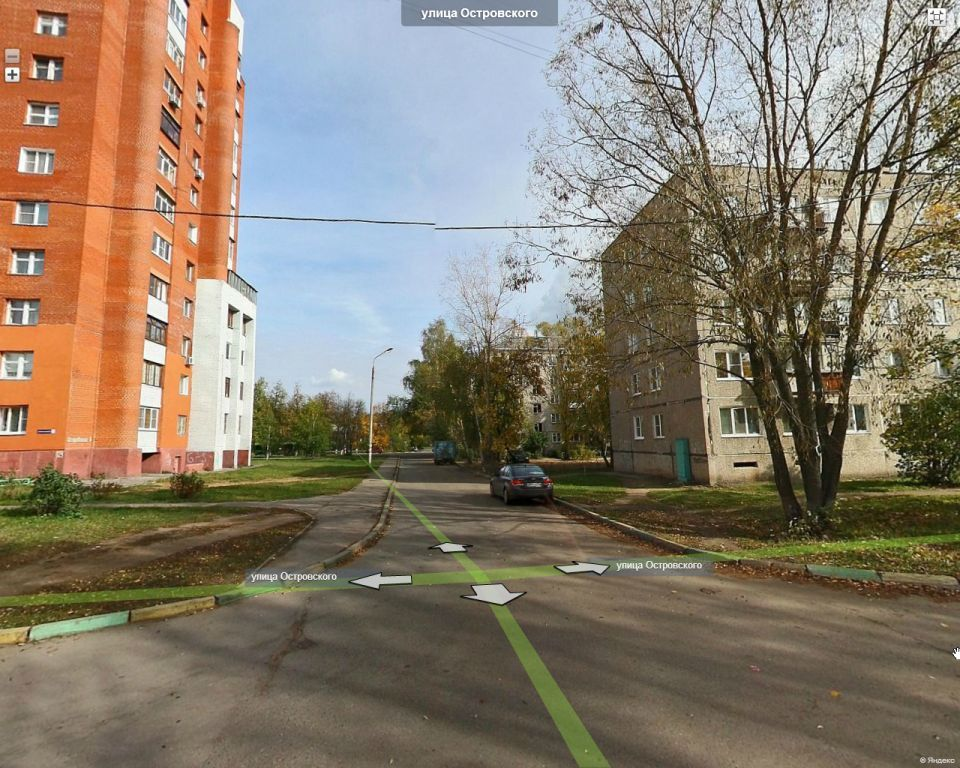 От Федоссенко - вид на улицу Островского