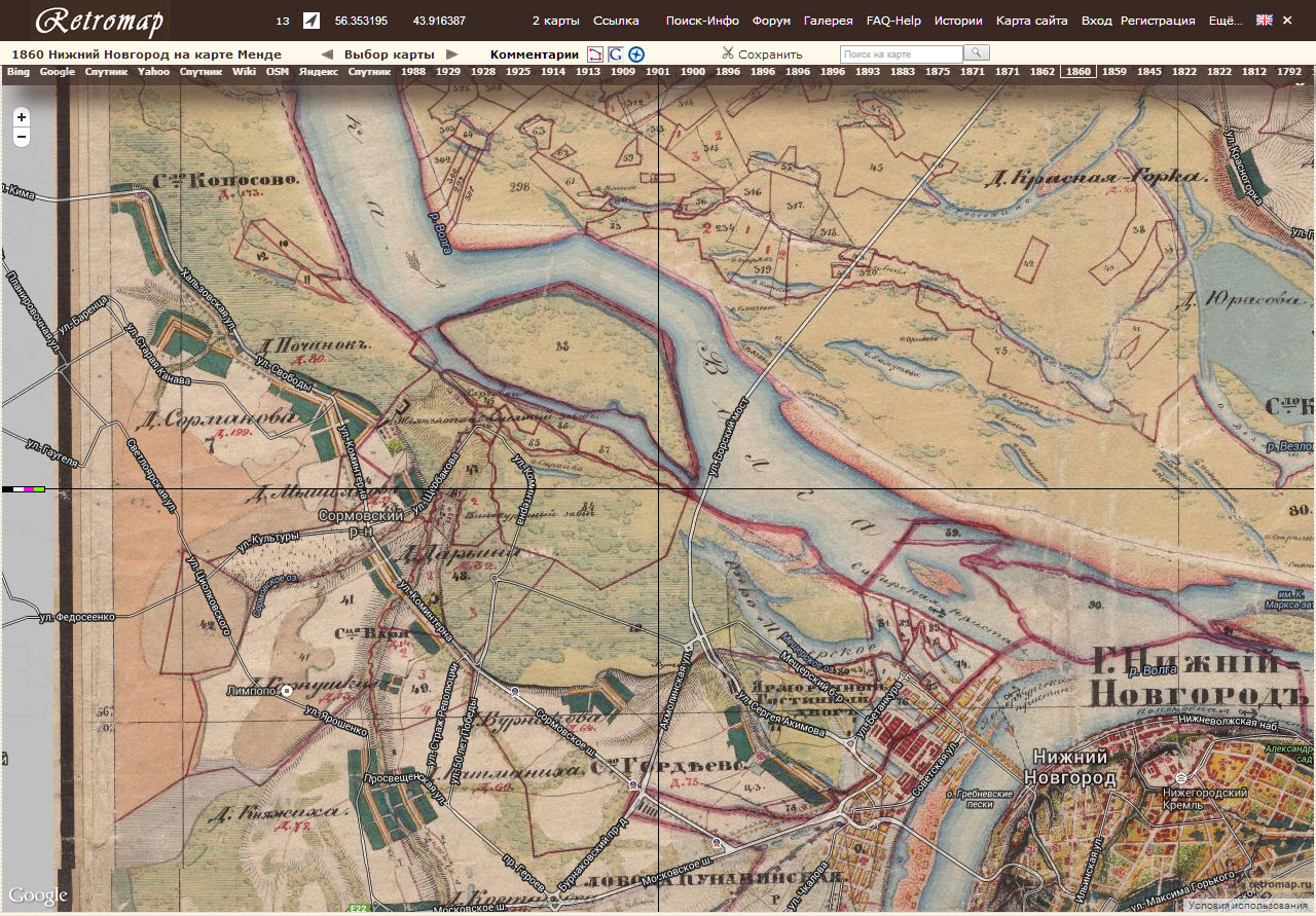 Карта 1860 года