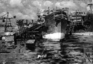 Сормовская верфь (этюд). 1936.