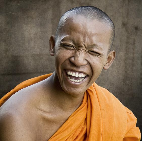 A Happy Monk by Martin Bushue