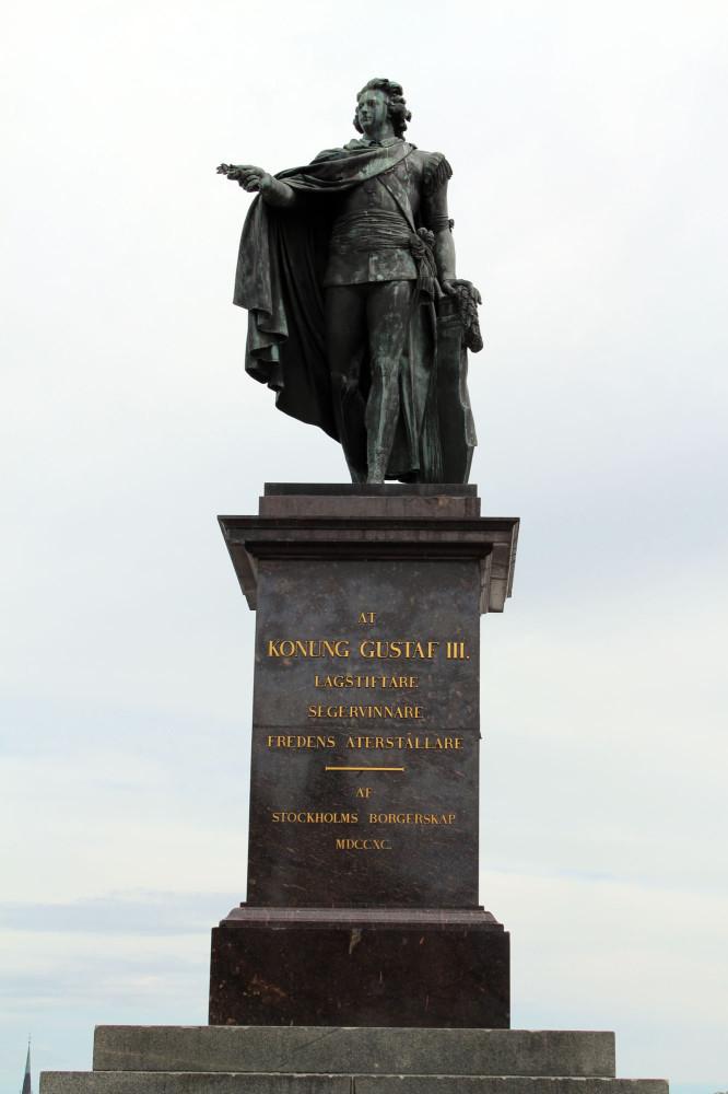 Памятник королю Густаву III