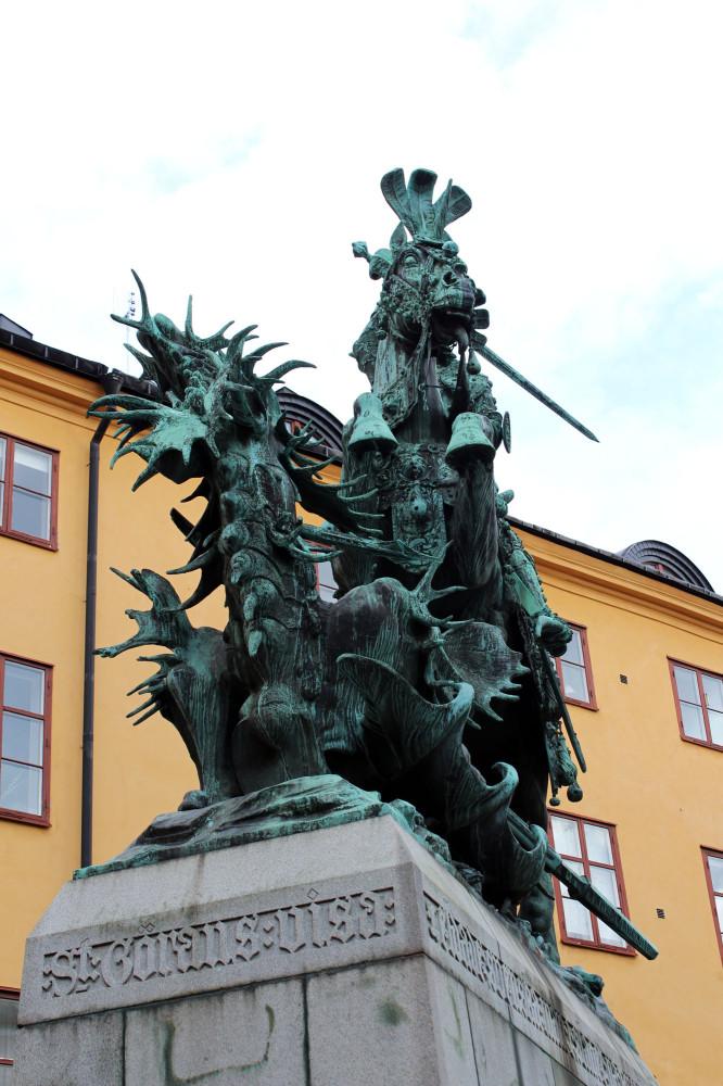 Скульптура святого георгия