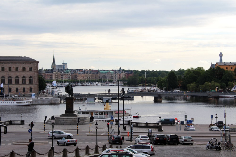 Вид на город с дворцового холма