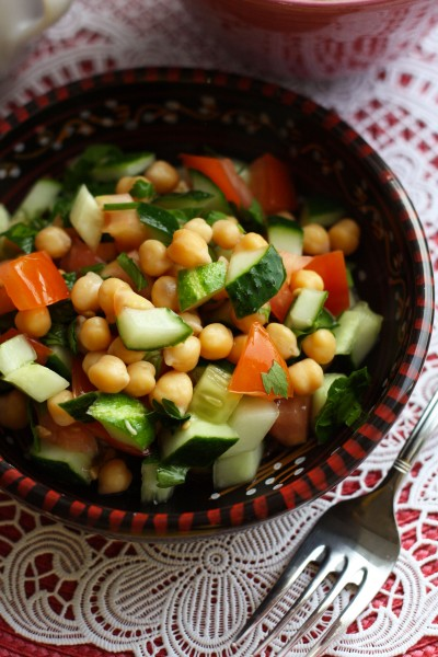 Индийская кухня_Салат с нутом