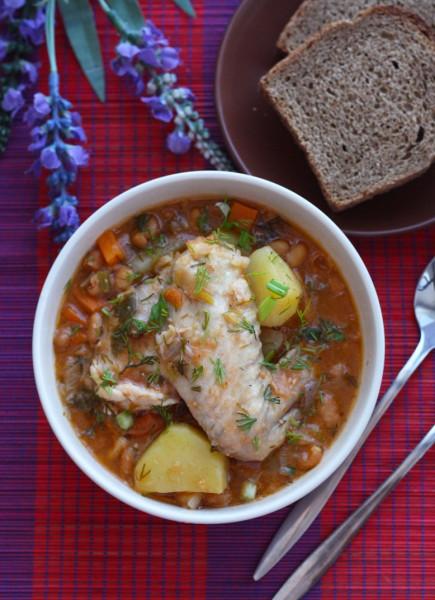 Вторые блюда_Жаркое с курицей и фасолью1