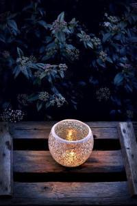 Свеча возле ночных кустов