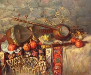 still-life-with-armenian-musical-instruments-duduk-thar-and-qyamancha-meruzhan-khachatryan