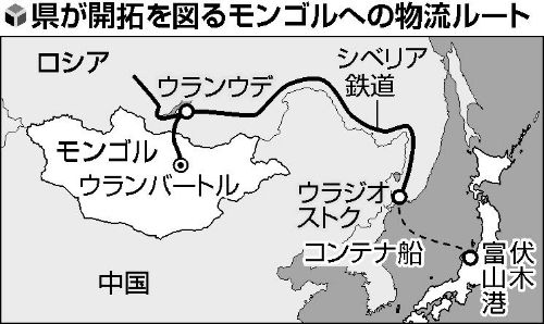 New route from Japan